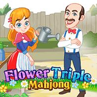 Цветочный тройной маджонг – играть онлайн бесплатно и без регистрации