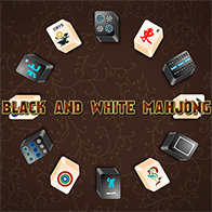 Mahjong Spiel Mahjong Black and White