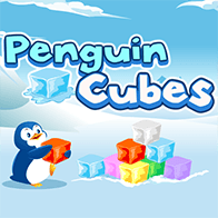 Match 3  Spiele Spiel Penguin Cubes spielen kostenlos