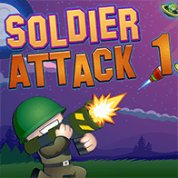 Geschicklichkeit Spiele Spiel Soldier Attack 1 spielen kostenlos