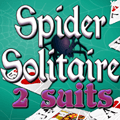 Spider Solitaire 2 suits
